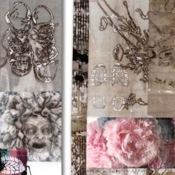 Impressions du Jardinier triptych