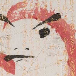 Red Daruma 1 detail